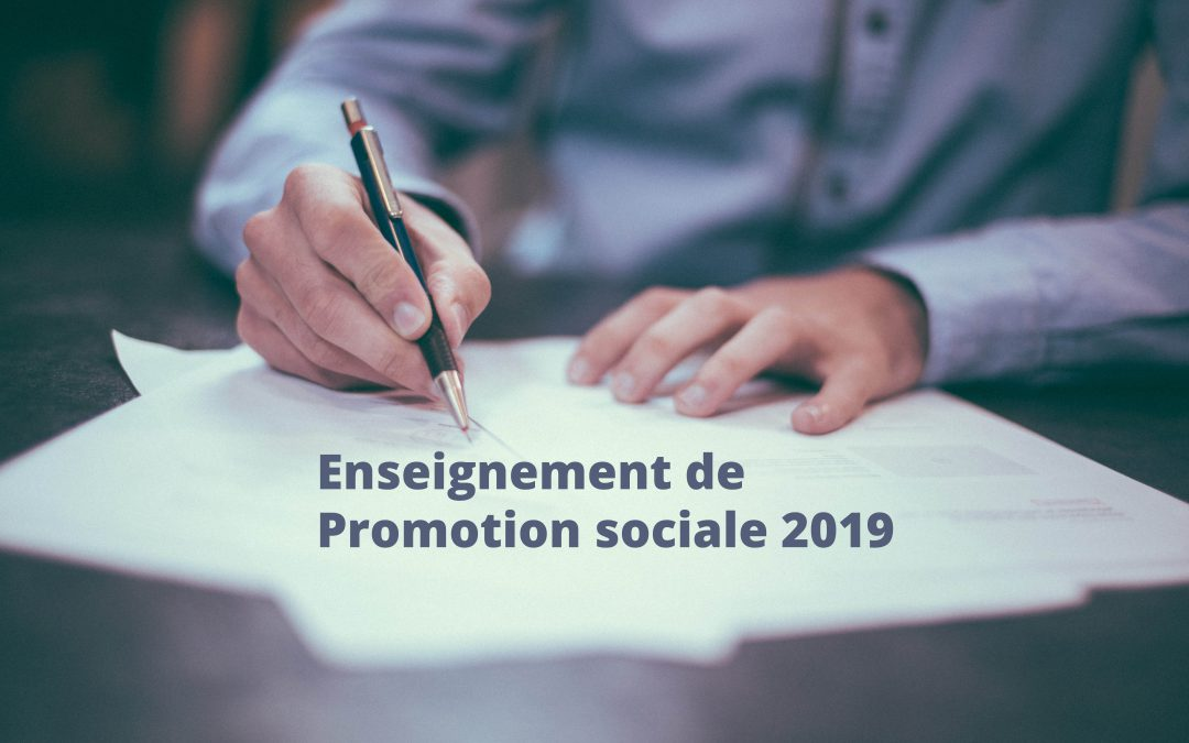 Formations au catalogue Enseignement de Promotion sociale 2019